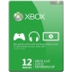 Xbox Live 12 Months Gold Card